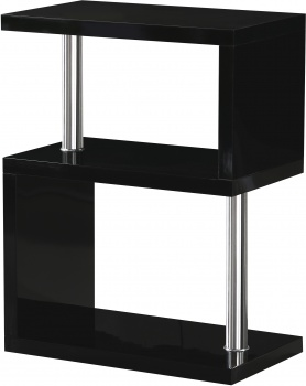 Charisma 3 Shelf Unit - Black Gloss