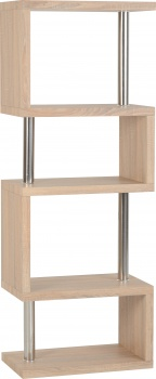 Charisma 5 Shelf Unit - Light Oak Veneer