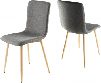 Genesis Rhea Chair in Fabric x 2 - Cool Grey