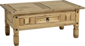 Corona Coffee Table - Distressed Waxed Pine