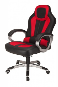 RayGar Deluxe Padded Sports Racing, Gaming & Office Chair - Red
