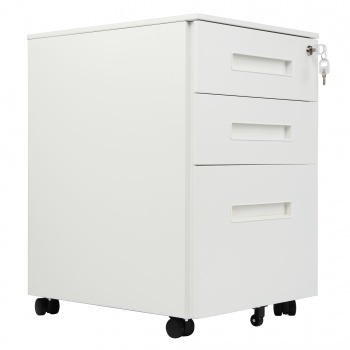 RayGar 3 Drawer Filing Cabinet - White