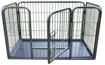 RayGar Heavy Duty Pet Dog Cage Crate Enclosure With Tray