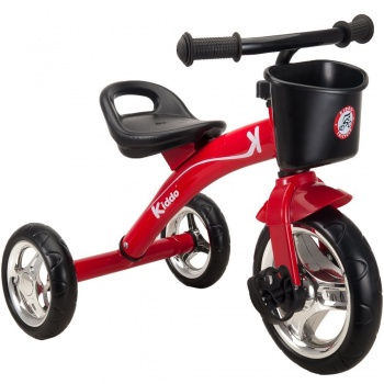 Kiddo Kids Trike 3 Wheel Childrens Ride On Tricycle - Red