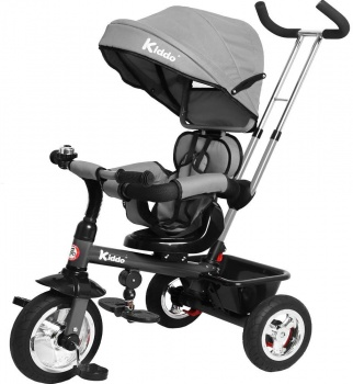 Kiddo Trike 4-in-1 Improved Smart Design with Added Features - Grey
