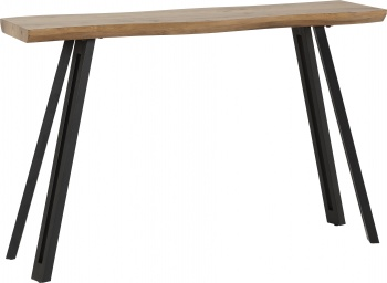 Quebec Console Table with Wave Edge - Oak Effect