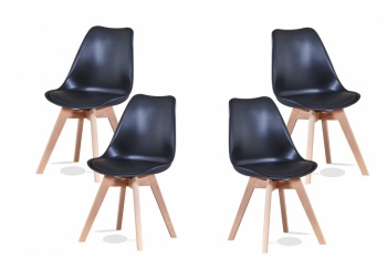 RayGar Deluxe Eames Style Dining Chair – 4 Pack in Various Colours