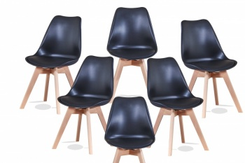 RayGar Deluxe Eames Style Dining Chair – 6 Pack in Various Colours