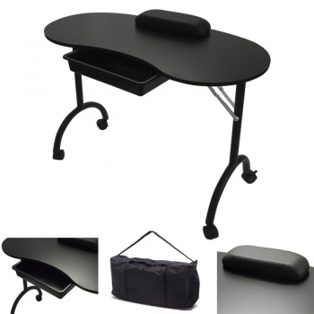 RayGar Manicure Nail Table - Black