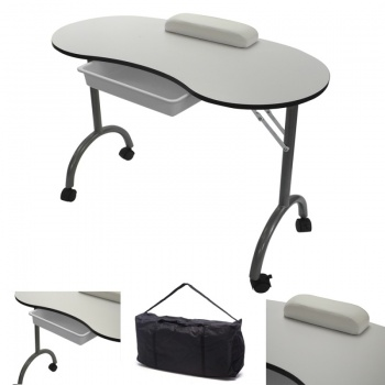 RayGar Manicure Nail Table - White