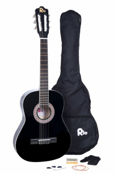 Rio 3/4 size (36'') Junior Classical Guitar - Black
