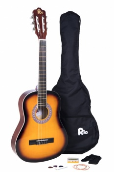 Rio 3/4 size (36'') Junior Classical Guitar - Sunburst