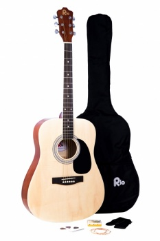 Rio 4/4 size (41'') Acoustic Dreadnought Guitar - Natural