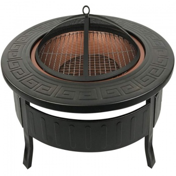 RayGar Multifunctional Round 3-in-1 Metal Garden Fire Pit BBQ Ice Bucket Patio Heater
