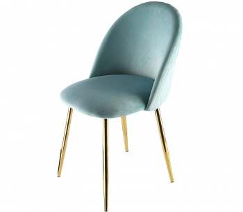 Genesis Metis Chair in Velvet Fabric - Blue Tint
