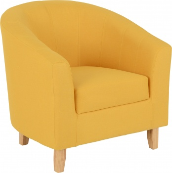Tempo Tub Chair in Fabric - Mustard