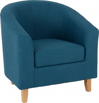 Tempo Tub Chair in Fabric - Petrol Blue