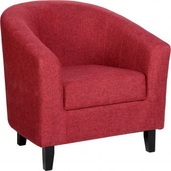 Tempo Tub Chair in Fabric - Red