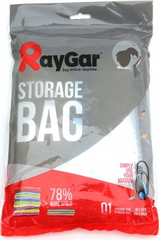 RayGar Vacuum Storage Bags 6 Pack of 100x80cm for Compressed Space Saving, Clothes, Bedding, Travelling, etc.