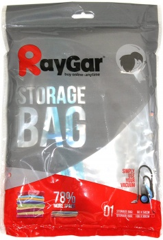 RayGar Vacuum Storage Bags 6 Pack of 90x50cm for Compressed Space Saving, Clothes, Bedding, Travelling, etc.