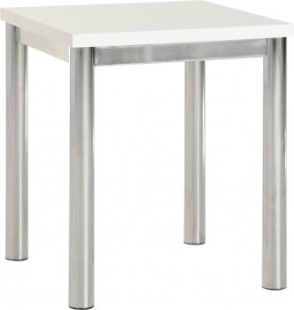Charisma Lamp Table - White