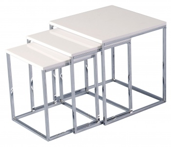 Charisma Nest of Tables - White