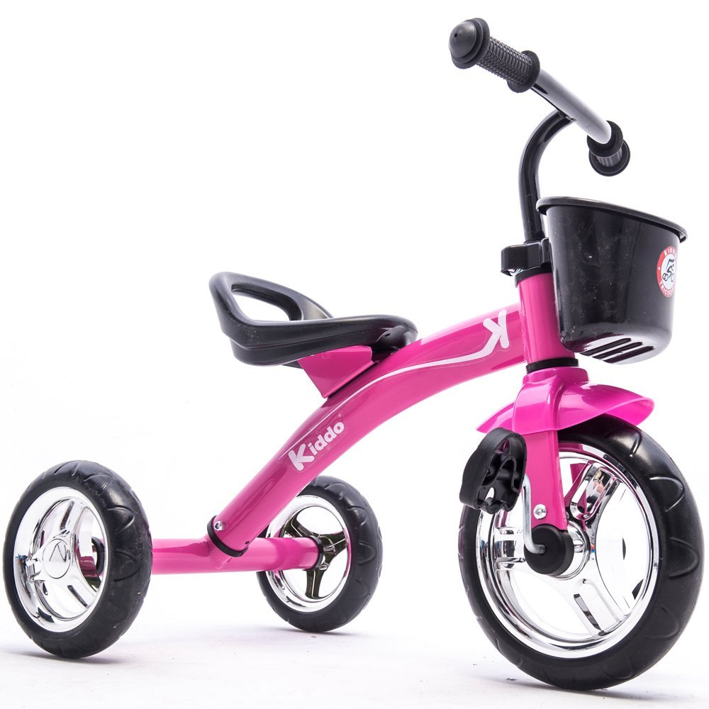kiddo kids trike 3 wheel childrens ride on tricycle pink. Black Bedroom Furniture Sets. Home Design Ideas