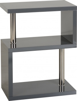 Charisma 3 Shelf Unit - Grey Gloss