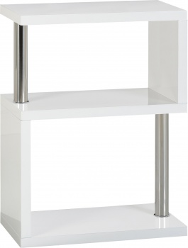 Charisma 3 Shelf Unit - White Gloss