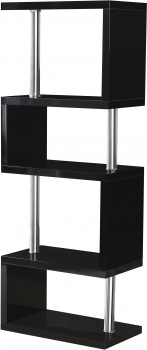 Charisma 5 Shelf Unit - Black Gloss