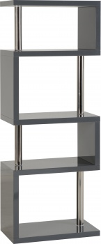 Charisma 5 Shelf Unit - Grey Gloss