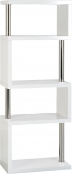Charisma 5 Shelf Unit - White Gloss