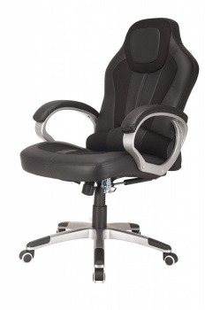RayGar Deluxe Padded Sports Racing, Gaming & Office Chair - Black