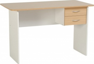 Jenny 2 Drawer Office Desk - Beech/White