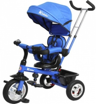 Kiddo Trike 4-in-1 Improved Smart Design with Added Features - Blue