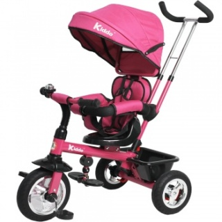 Kiddo Trike 4-in-1 Improved Smart Design with Added Features - Pink
