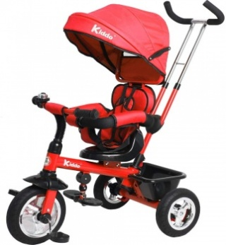 Kiddo Trike 4-in-1 Improved Smart Design with Added Features - Red