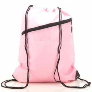RayGar Drawstring Bags for School/Sport Pack of 10 - Baby Pink