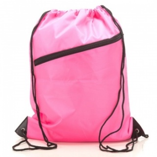 RayGar Drawstring Bags for School/Sport Pack of 10 - Fuschia Pink