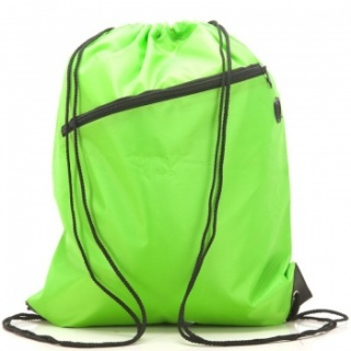 RayGar Drawstring Bags for School/Sport Pack of 10 - Lime Green
