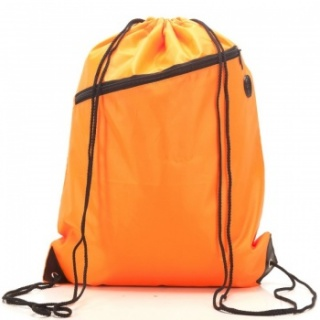 RayGar Drawstring Bags for School/Sport Pack of 10 - Orange