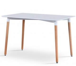 RayGar Rectangular Dining Table - White