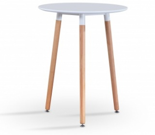RayGar Small Round Dining Table - White