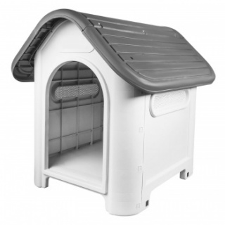 RayGar Plastic Pet Kennel - Grey