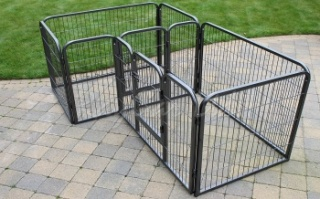 RayGar Heavy Duty Double Pet Dog Cage Crate Enclosure