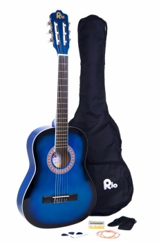Rio 3/4 size (36'') Junior Classical Guitar - Blue