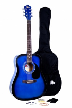 Rio 4/4 size (41'') Acoustic Dreadnought Guitar - Blue