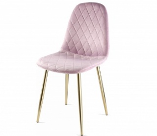 Genesis Athena Chair in Velvet Fabric -  Violet Tulle