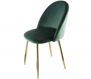 Genesis Metis Chair in Velvet Fabric - Bistro Green