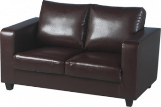 Tempo 2 Seater Sofa in a Box - Brown PU Leather